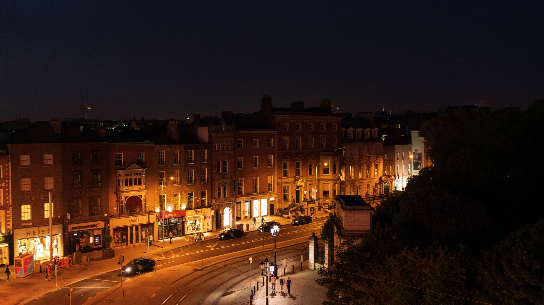 View from our Hotel Balcony.  We stayed @ the Fitzwilliam which was located right next to St.Stephen;s Green and Grafton St.