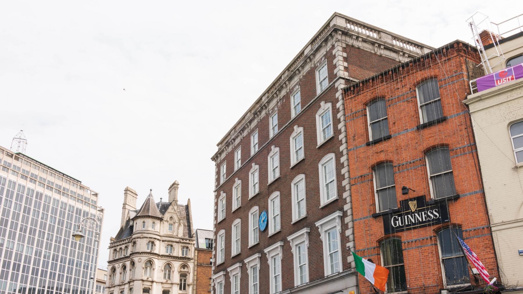 Beautiful Architecture around the Temple Bar area, Dublin.