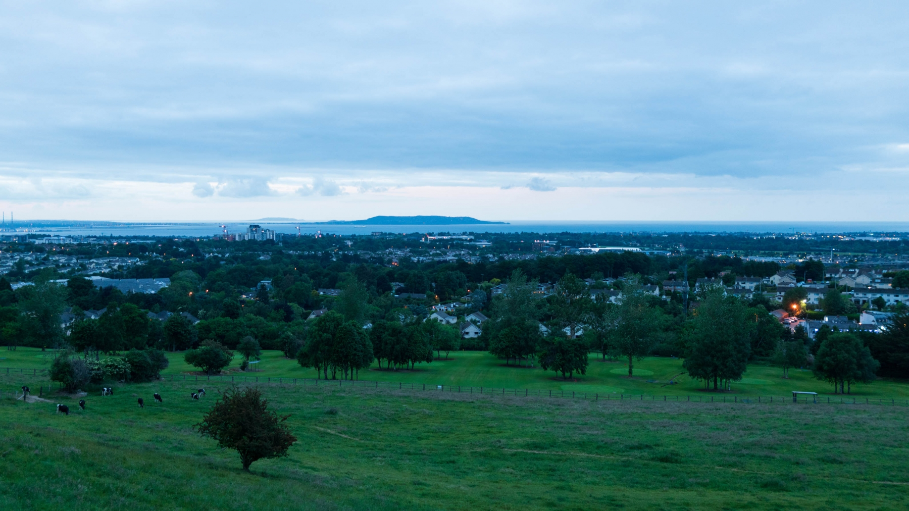 You can see Dalkey Island in the background. Took this snap from a Suburb of Dublin, about 25 mins S. Full of winding narrow roads it was dotted with some rather impressive mansions.