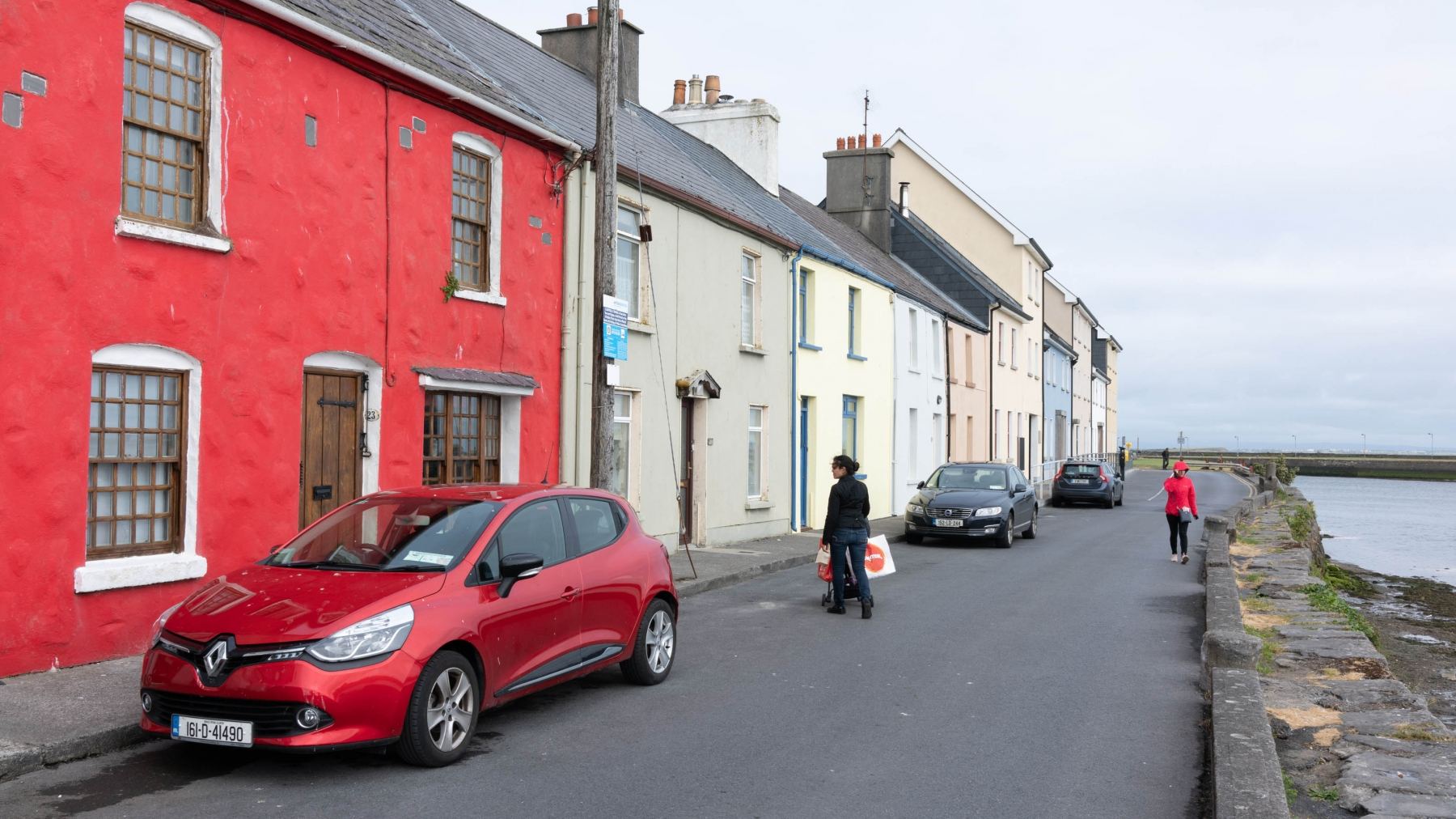 Walking around Galway. All the houses had different color schemes.  Something you'd normally see in parts of Scandinavia or the Caribbean.