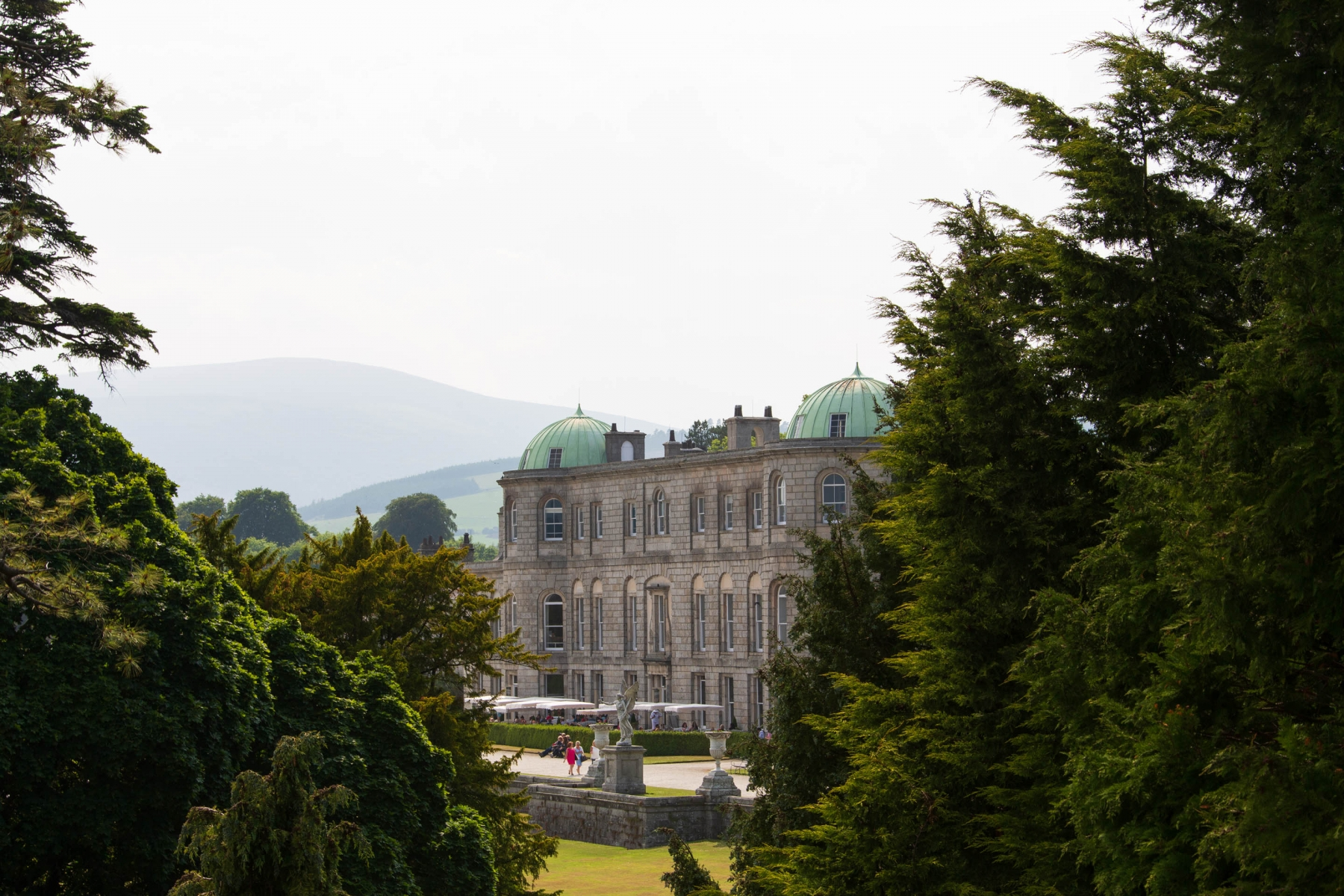 And finally a glimpse of the Powerscourt House from atop the tower. If you are tired of walking around Dublin, I highly recommend spending an afternoon here.