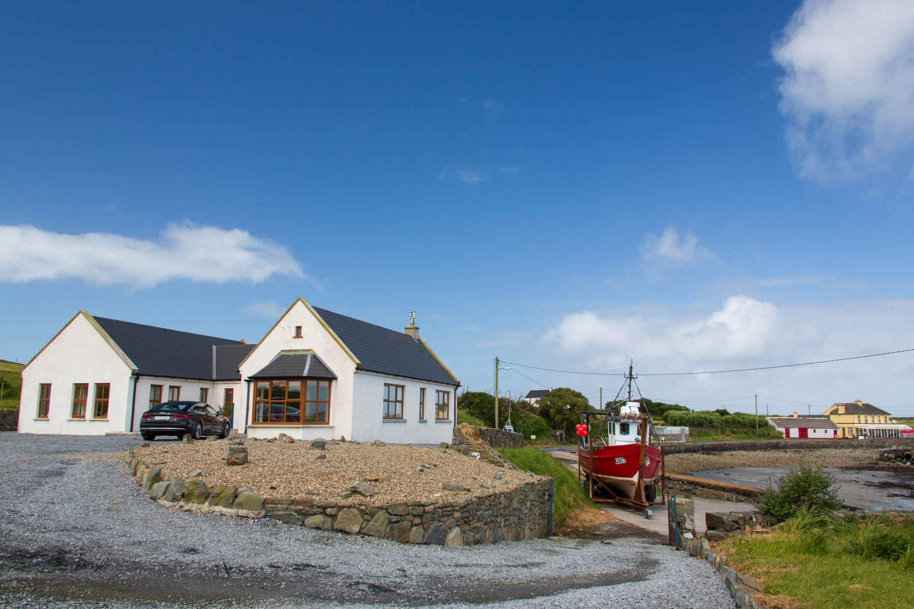 After the pampering of the Cliff House we drove to the Western part of Ireland and rented a small cottage by the Sea.