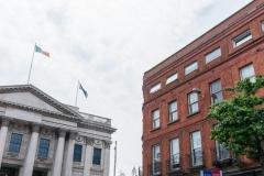 City Hall, Dublin (left).