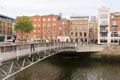 A Bridge across the River Liffey, Dublin.
