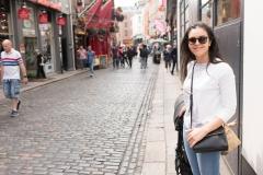 Walking around the Temple Bar neighborhood in Dublin.